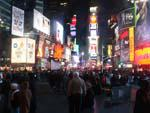 More of Times Square at night