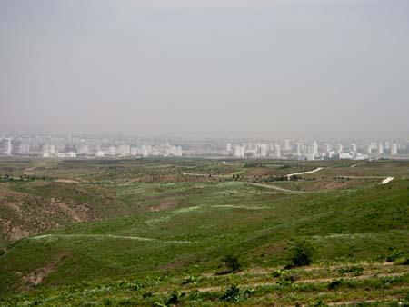 The white-marble city of Ashgabat
