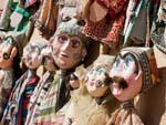 Hand made paper-mache puppets