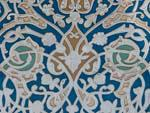 Intricate tile work at Hazrat-Hizr Mosque