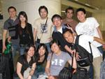The group of us at Hong Kong train station heading to the airport the next day