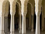Arches and pillars of the undercover halls of the Hawa Mahal