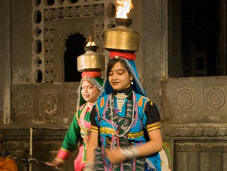 Fire dance from the Bikaner region of Rajasthan