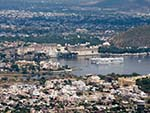 View of Udaipur and Lake Pichola from the Monsoon Palace
