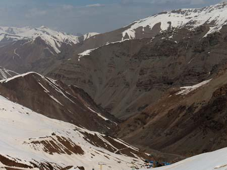 Alborz Mountains at Dizin ski resort