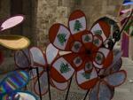 Colourful windmills