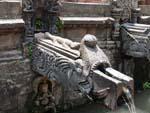 Sunken Manga Hiti with carved stone makara (mythological crocodiles) head waterspouts