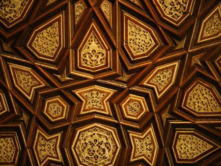 Intricate wood tessellation