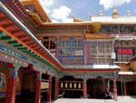 The inner courtyard of Drepung Monastery