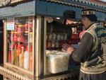 Street vendor selling pickles